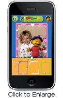 Screenshot - Sid the Science Kid inside an iPhone App